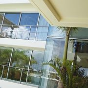 Commercial aluminium windows in balcony of apartments