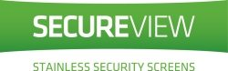 SecureView Stainless security screen banner