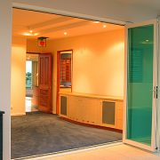 Coloured Glass Bi-Fold Doors
