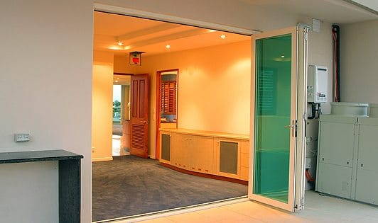 Coloured Glass Bi-Fold Doors